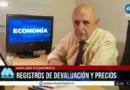 Registros de devaluación y precios